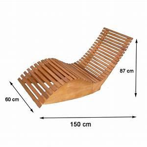 Liegestuhl Selber Bauen : gro artig schwungliege holz einzigartig aus akazienholz ~ Lizthompson.info Haus und Dekorationen