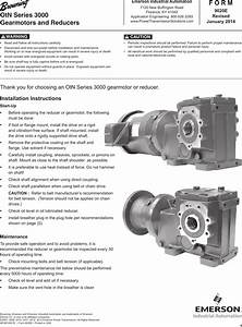 Avital 3000 Mcim14001e 9020e Otn Series Gearmotors And