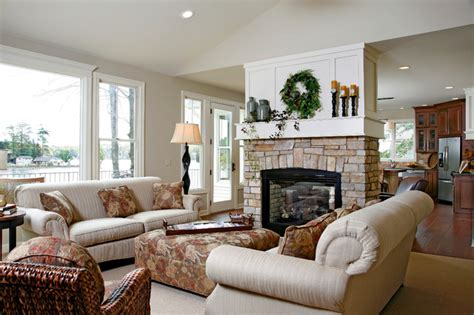 lake house living room lake house traditional living room grand rapids by