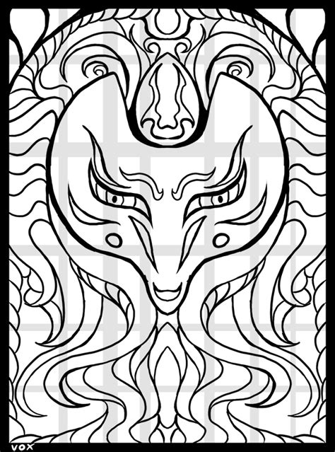 kitsune coloring pages  getcoloringscom  printable colorings pages  print  color