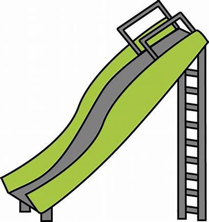 Slide Playground Clipart Clip Cartoon Slides Sliding