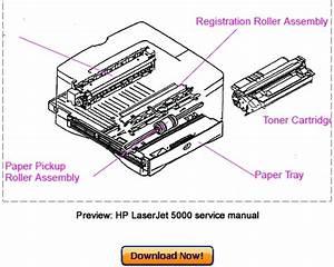 Hp Laserjet 5000  5000n  5000gn  5000dn Service Repair