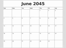 March 2045 Free Blank Calendar Template