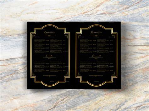 bi fold luxury restaurant menu template  geelator