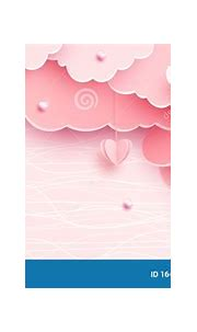 Pink Banner Background In Papercut Realistic Style. Paper ...
