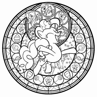 Stained Glass Pony Coloring Pinkie Pie Akili