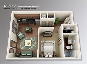 studio apartment 3d floor plans google search floor With studio apartment floor plans 3d