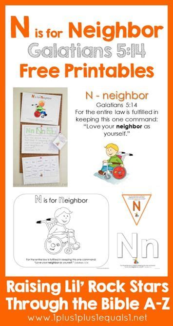 bible verse printables letter n n is for toddler 290 | 922be349095af922dfb403523cd3dce1