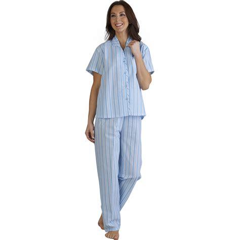 P114 Stripe Pajamas Set slenderella seersucker stripe pyjamas set