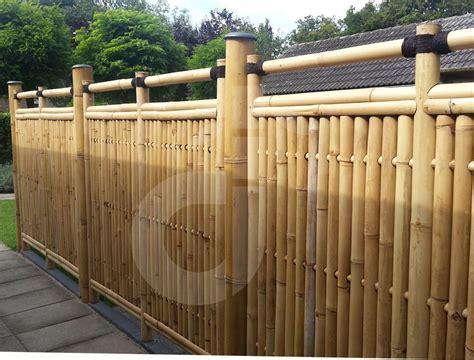 Sichtschutz Garten Bambuszaun by Bambus Sichtschutz Garten Zaun Windschutz Bambuszaun
