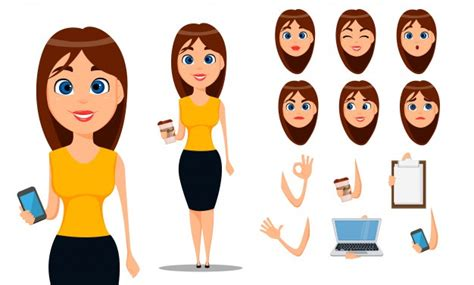 girl cartoon vector