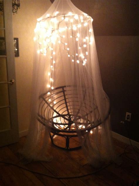 lights on a canopy a papasan chair crafty