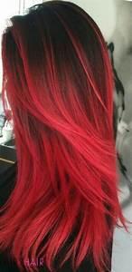 Ombré Hair Rouge : 13 best black and red ombr hair color ideas ~ Melissatoandfro.com Idées de Décoration