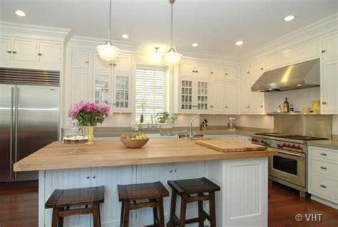 white kitchen island with butcher block top kitchens walnut stools butcher block island countertop 2218