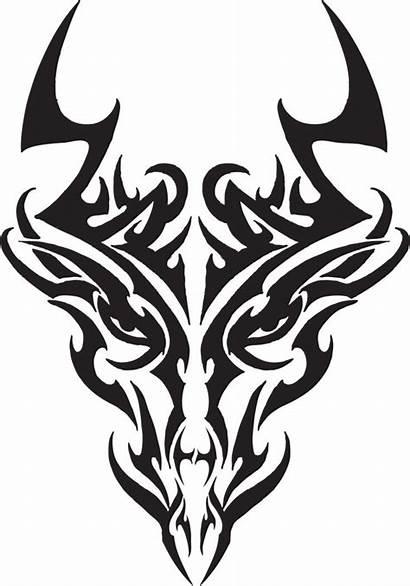 Tribal Dragon Tattoo Head Designs Tattoos Drawing