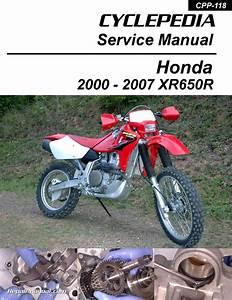 Honda Xr650r Motorcycle Cyclepedia Printed Service Manual