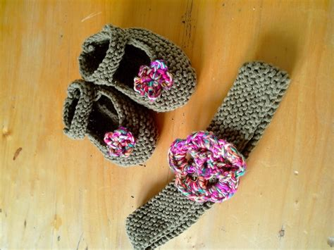 tuto bandeau bébé fille chaussons et bandeau tricot pour b 233 b 233 avec mes dix doigts