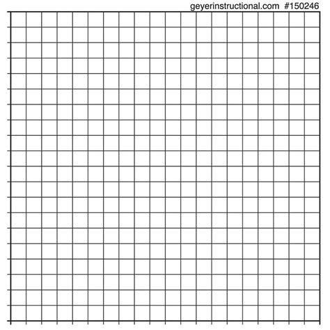 Printable Graph Paper 20 X 20 Printable Graph Paper 20 X 20 Graphing Stickers 20x20 Grid