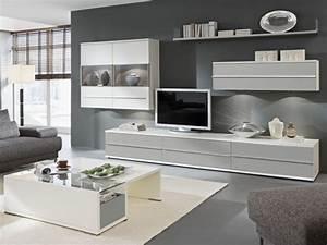 Wohnzimmer Wandfarbe Grau : wohnwand kito loddenkemper 9830 massiva m ~ Orissabook.com Haus und Dekorationen