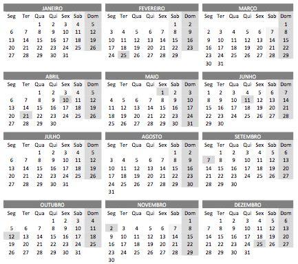 calendario feriados imprimir gratis printloja blog