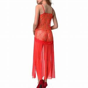 womens sexy lingerie sleepwear lace chiffon night gown With lingerie robe