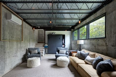 Exposed Basement Ceiling Lighting Ideas by Exposed Ceiling Basement Ideas Basement Industrial With