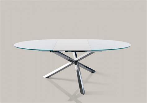 tavolo rotondo allungabile cristallo tavolo allungabile e fisso rotondo trio di ingenia