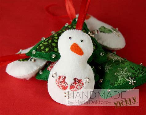 snowman felt ornaments christmas tree decorations