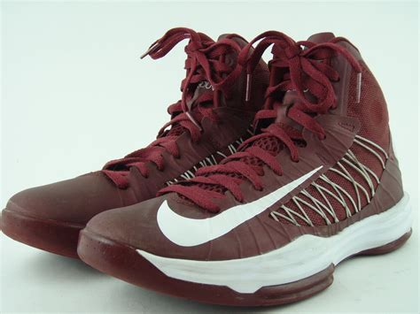 nike hyperdunk maroon lightweight high top athletic shoes