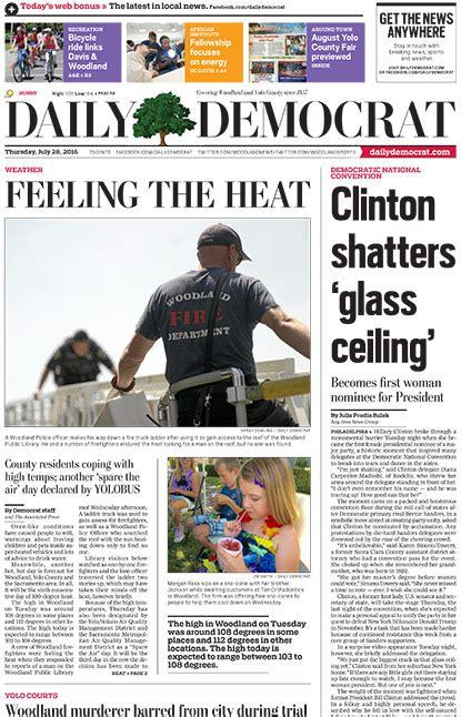 woodland daily democrat subscription rates newsratescom
