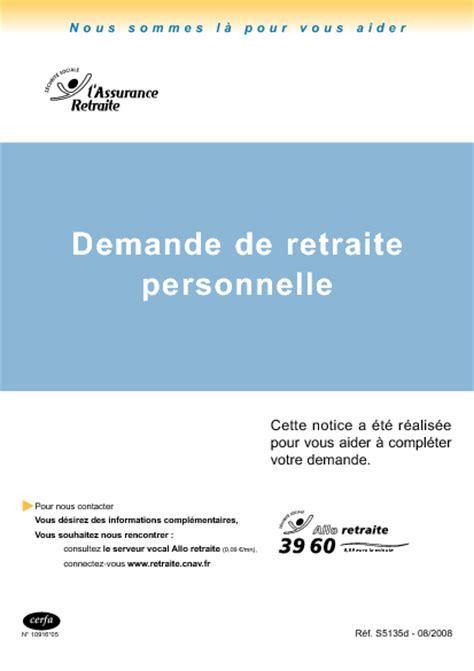 modele lettre depart retraite carriere longue demande de retraite personnelle formulaire cerfa