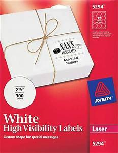laser and inkjet labels With avery round labels 5294
