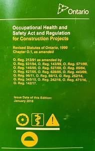 Occupational Health And Safety Act And R  U2013 Publications