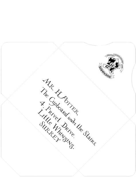 harry potter letter template harry potter envelope template mayamokacomm