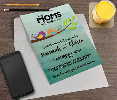 moms    printable baby shower invitation