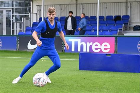 Timo Werner takes part in his first Chelsea training ...
