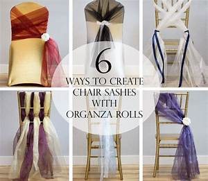 6 Ways to Create Chair Sashes with Organza Rolls