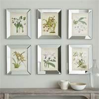 mirrored picture frames Orchids In Mirror Frame | Ballard Designs