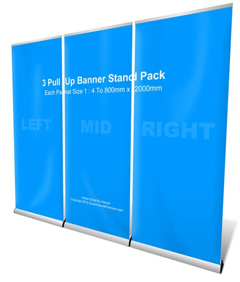 roll  banner stand pack mockup cover actions premium