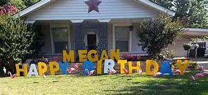 Large letters smiles for all occasions for Giant yard letters
