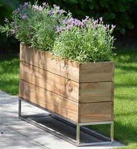 pflanzkubel teak minigarden container im greenbop online With katzennetz balkon mit teak und garden