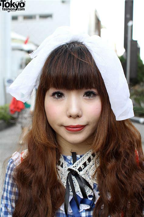 Japanese Girl in Panama Boy Top & Red Dress - Tokyo Fashion