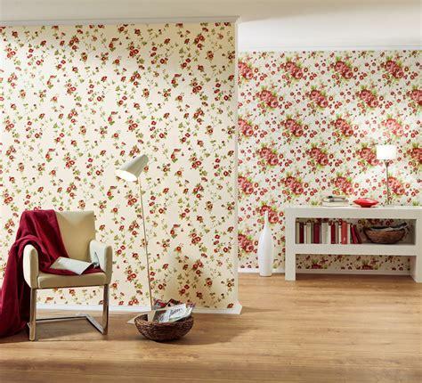 wallpaper bunga ruang tamu gambar