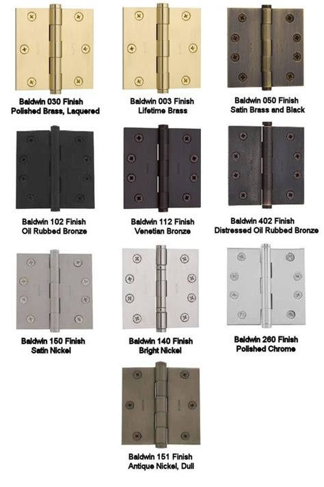 hardware finish reference guide good   diy