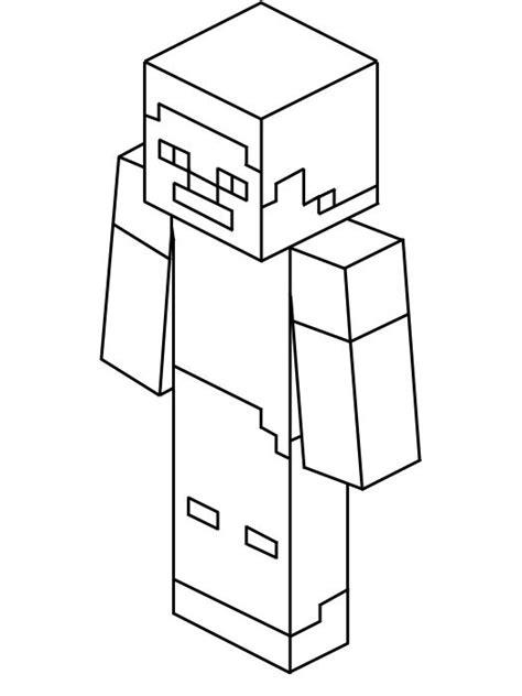 Kleurplaat Minecr by Steve Kleurplaatkoning Nl Minecraft Kleurplaten M O