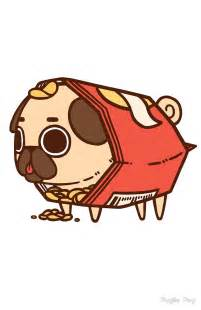 Cute Cartoon Pug Puglie