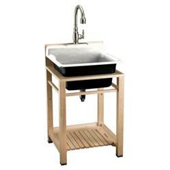 shop kohler white cast iron laundry sink at lowes com