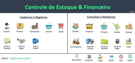 Planilha Controle De Estoque E Financeiro Excel R$ 49 90