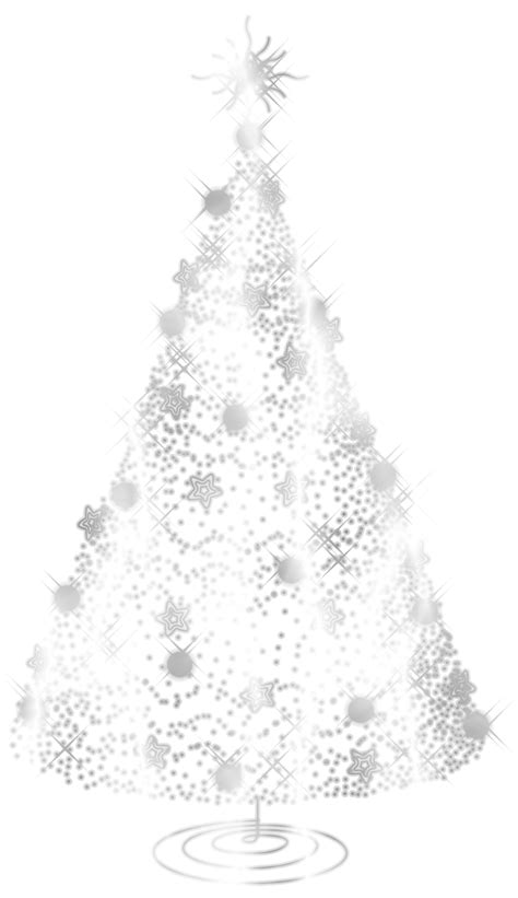 Transparent Silver Decorative Christmas Tree PNG Clipart