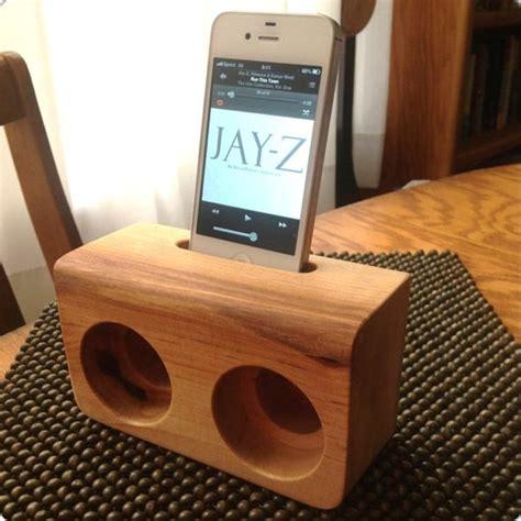 stylish smartphone speaker dock  wood woodworking